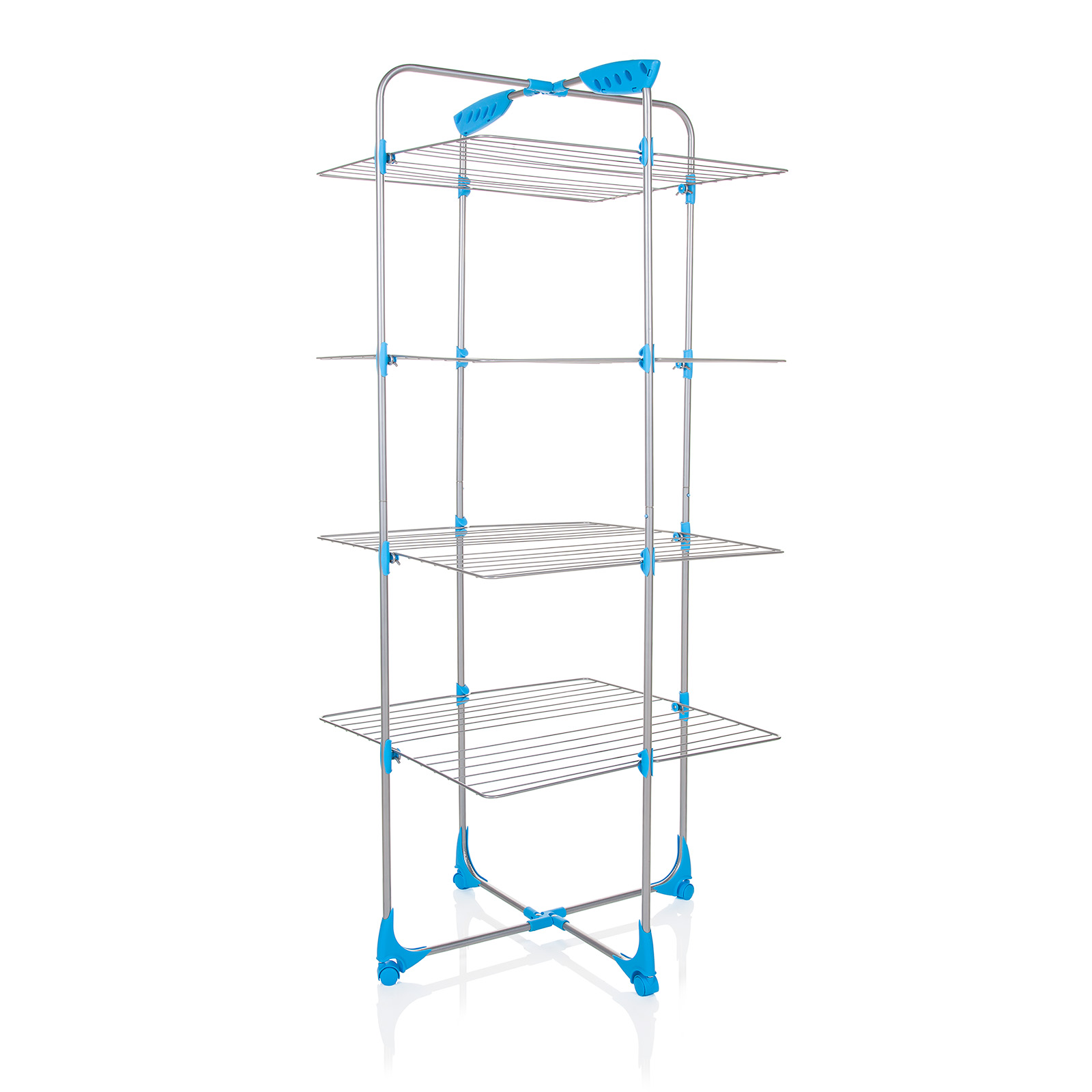 minky tower airer 30m silver blue free p p ebay. Black Bedroom Furniture Sets. Home Design Ideas