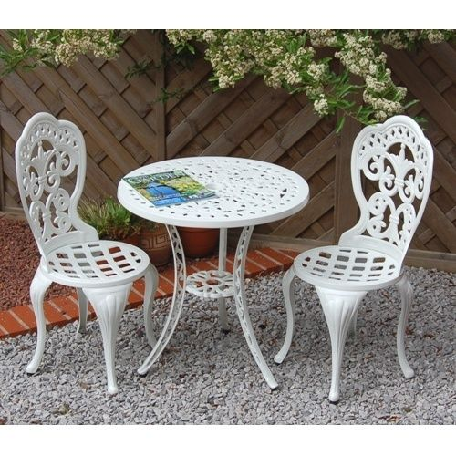 alfresia garden furniture patio cast aluminium caf bistro set white