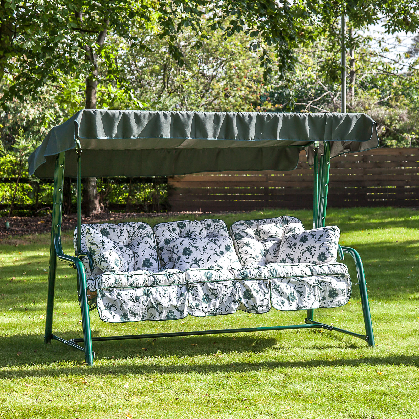 Alfresia Outdoor Reclining Hammock 3 Seater Swing Bench Seat Classic Cushion Ebay