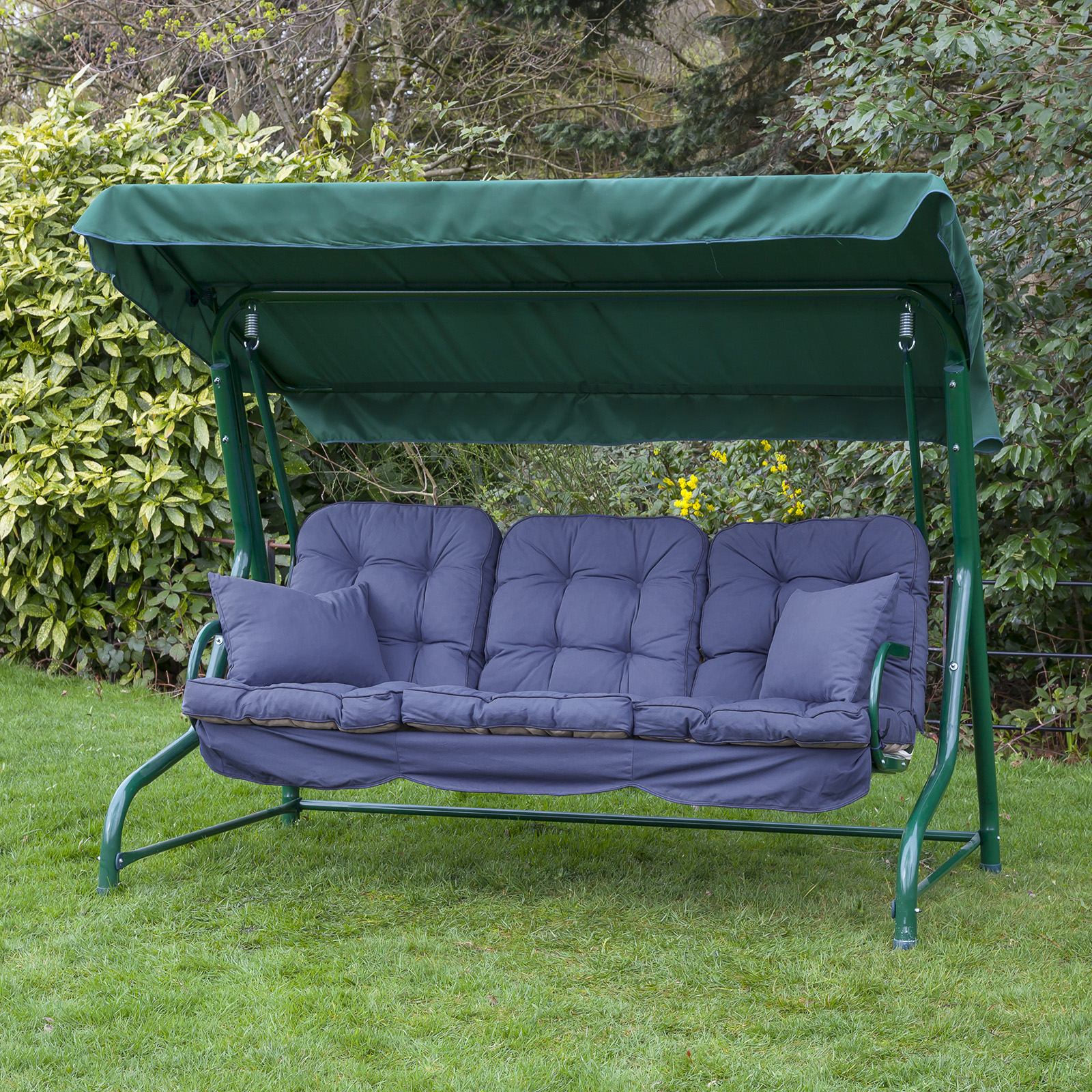 Garden 3 Seater Replacement Swing Seat Hammock Cushion Set ...