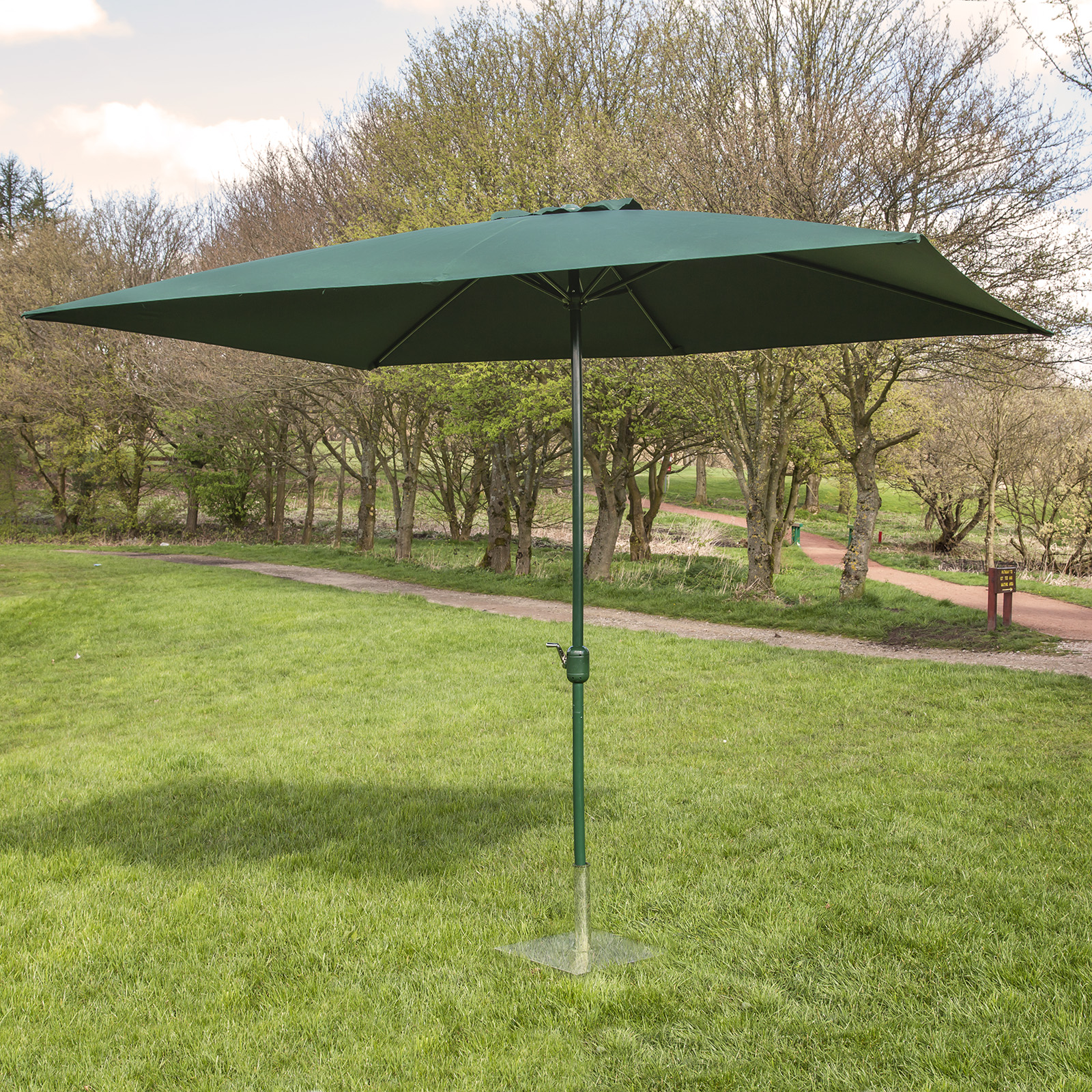 alfresia 3m x 2m garden parasol with crank choice of colours ebay. Black Bedroom Furniture Sets. Home Design Ideas