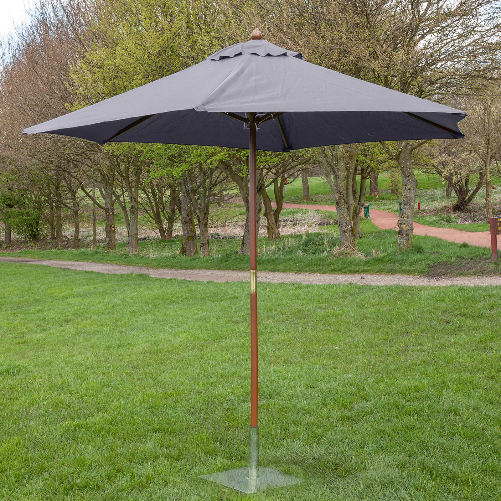 alfresia wooden garden parasol choice of colours ebay. Black Bedroom Furniture Sets. Home Design Ideas