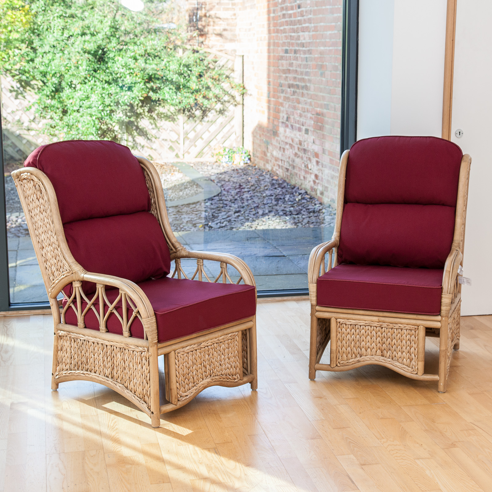 Alfresia 2 Penang Cane Conservatory Furniture Armchairs