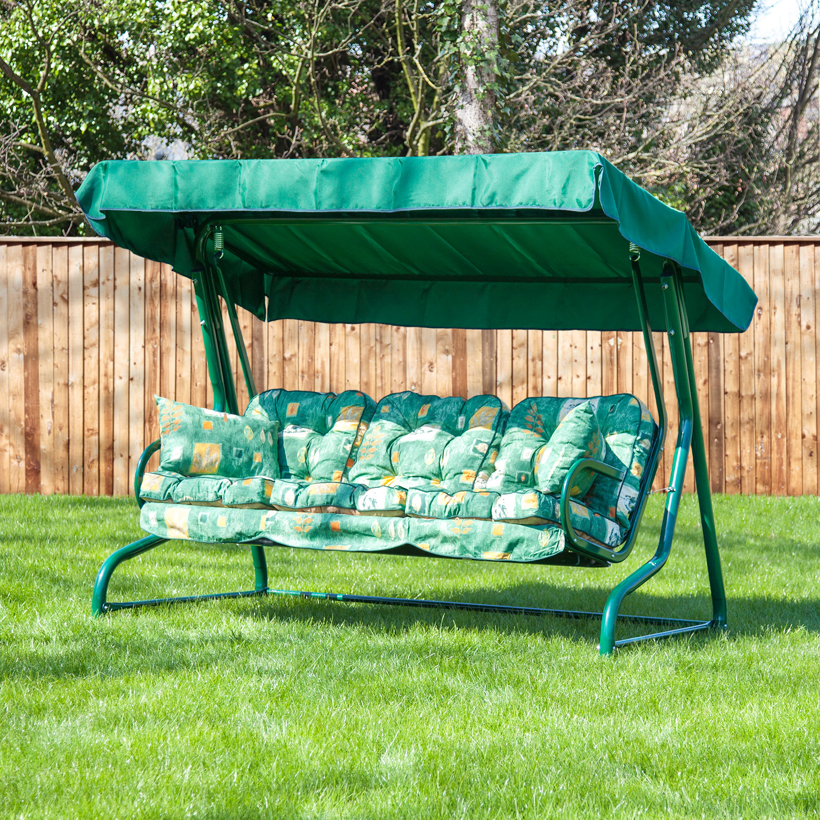 Garden 3 Seater Replacement Swing Seat Hammock Cushion Set