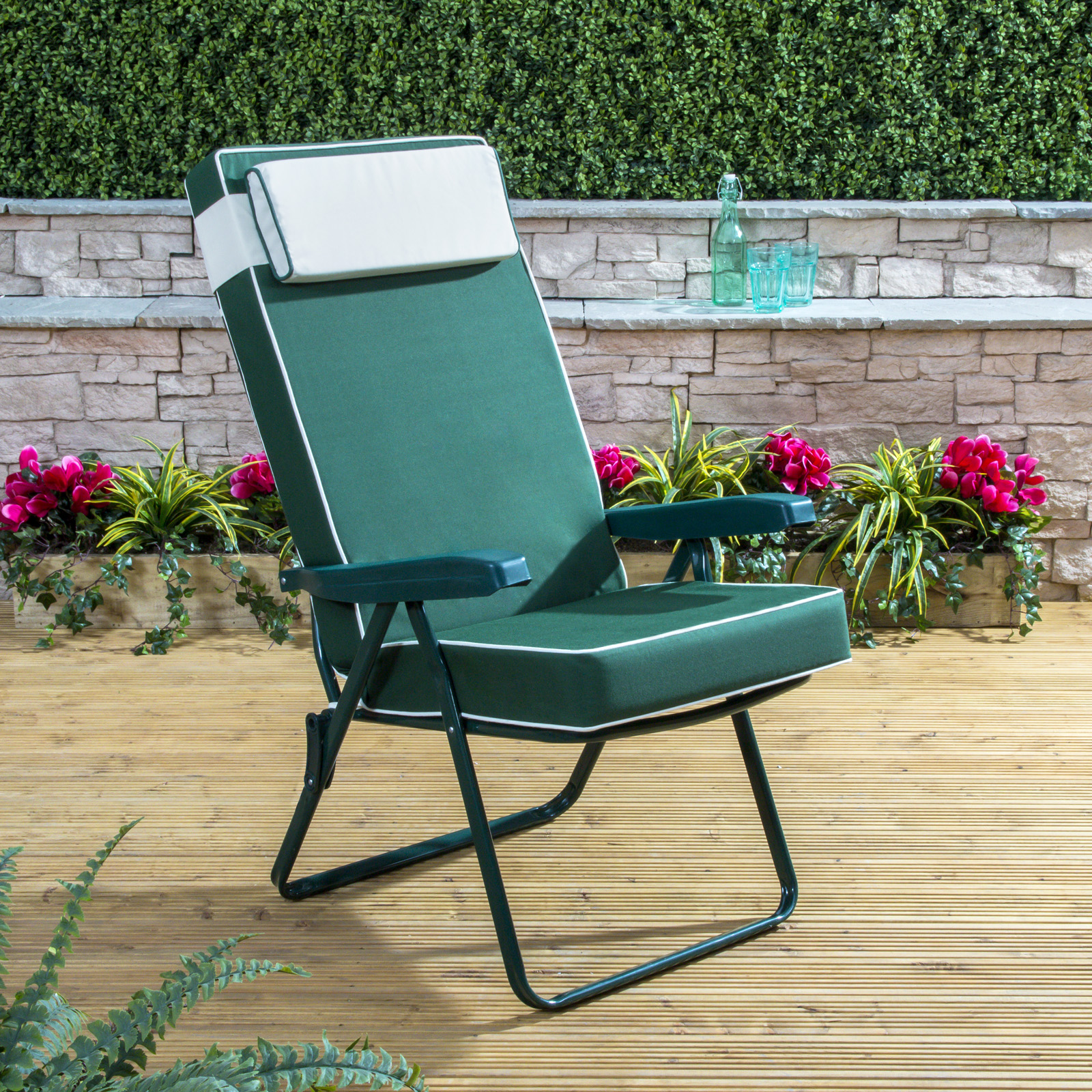 Garden Furniture Colours luxury garden recliner chair cushion - choice of colours | ebay