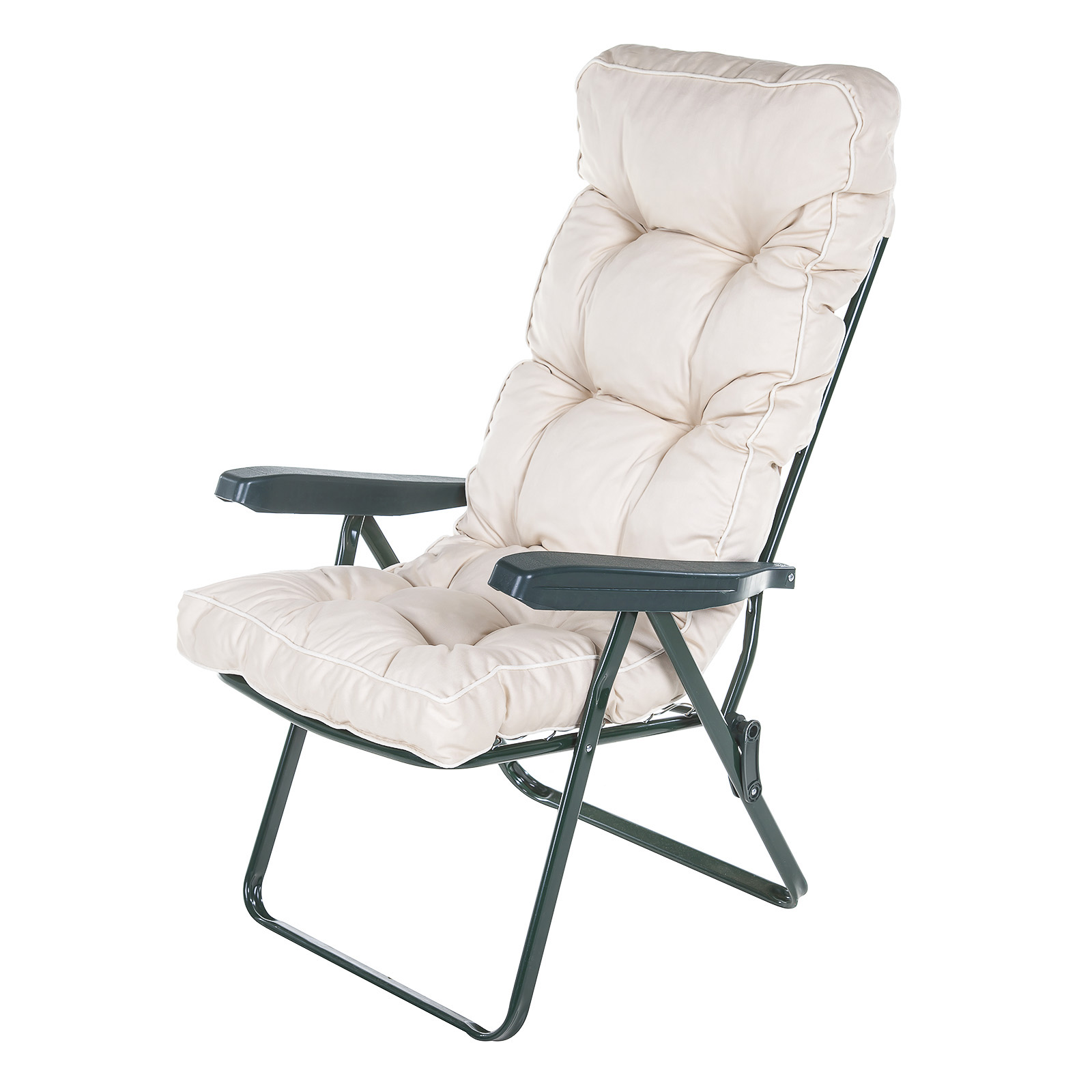 Garden Recliner Green Chair With Luxury Cushion Choice Of Colours