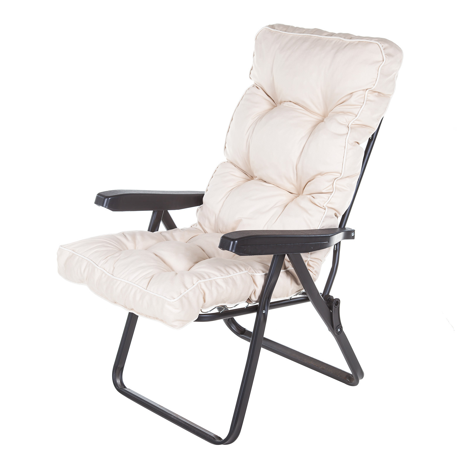 Alfresia Garden Recliner Chair With Luxury Cushion And Black Frame EBay