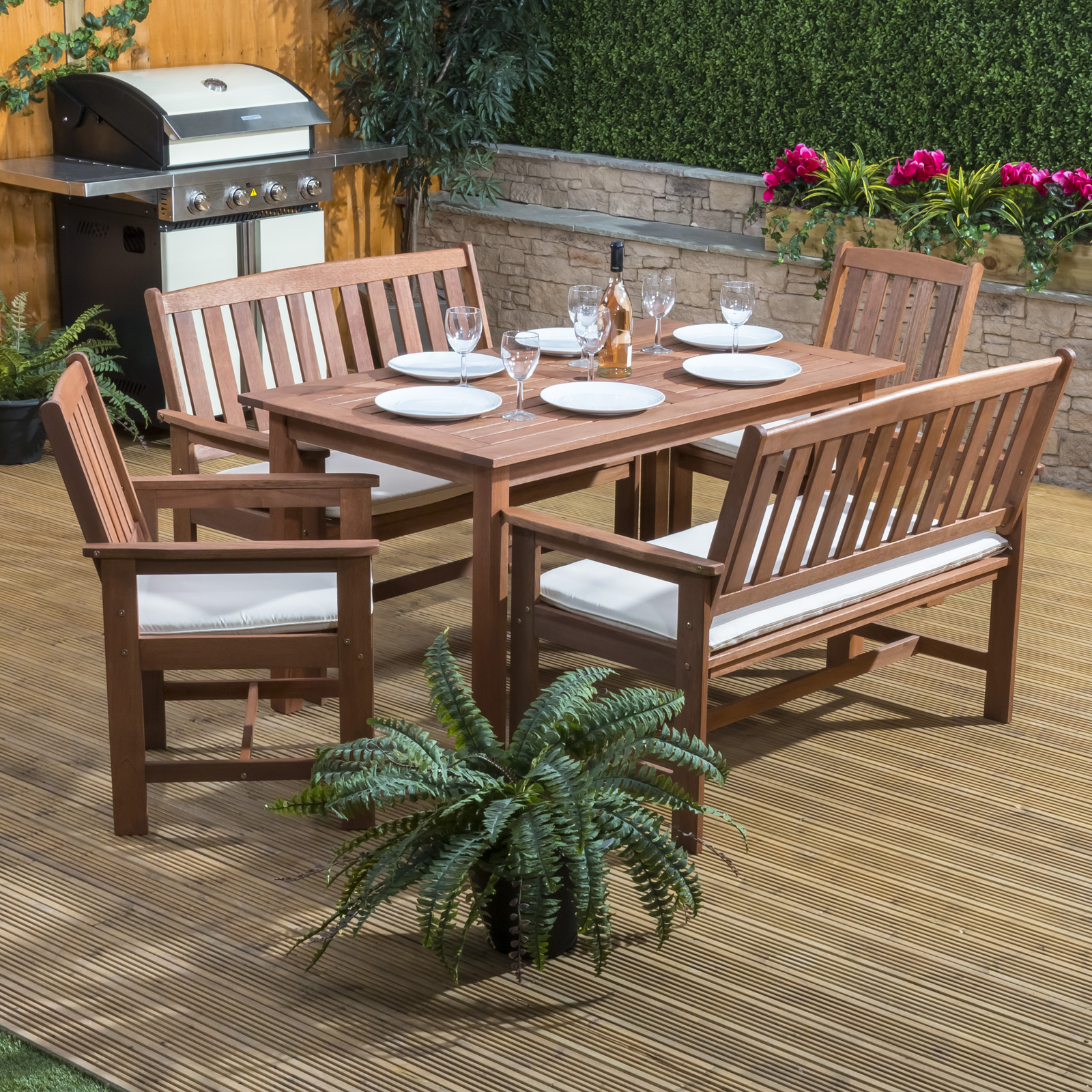 Alfresia Monaco Wooden Garden Furniture Set For 6 Ebay