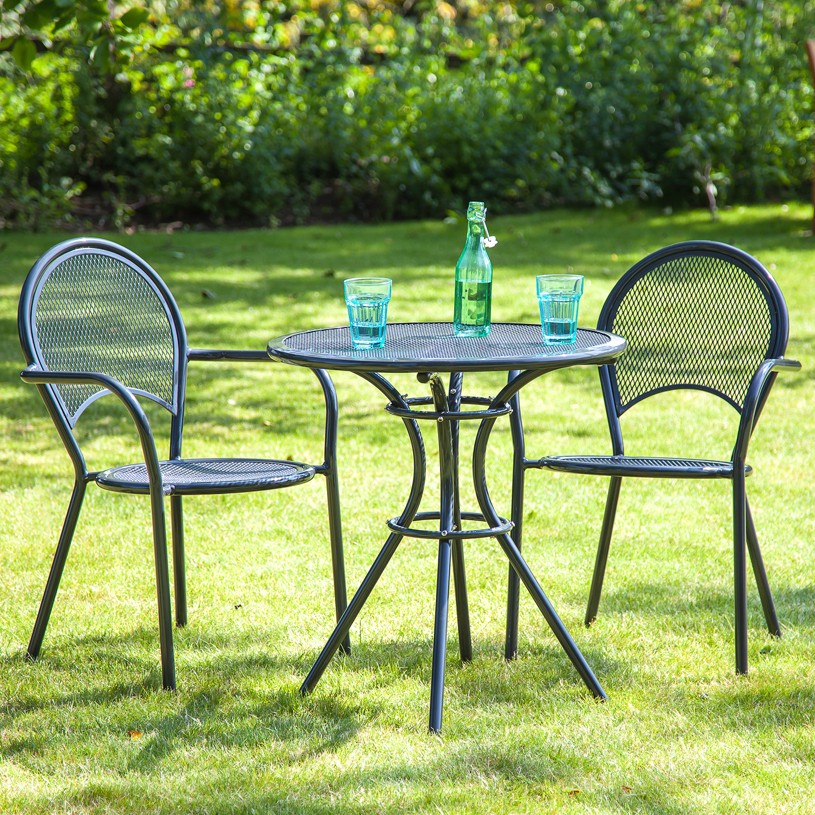 Alfresia Miami Aluminium Round Garden Furniture Bistro Set