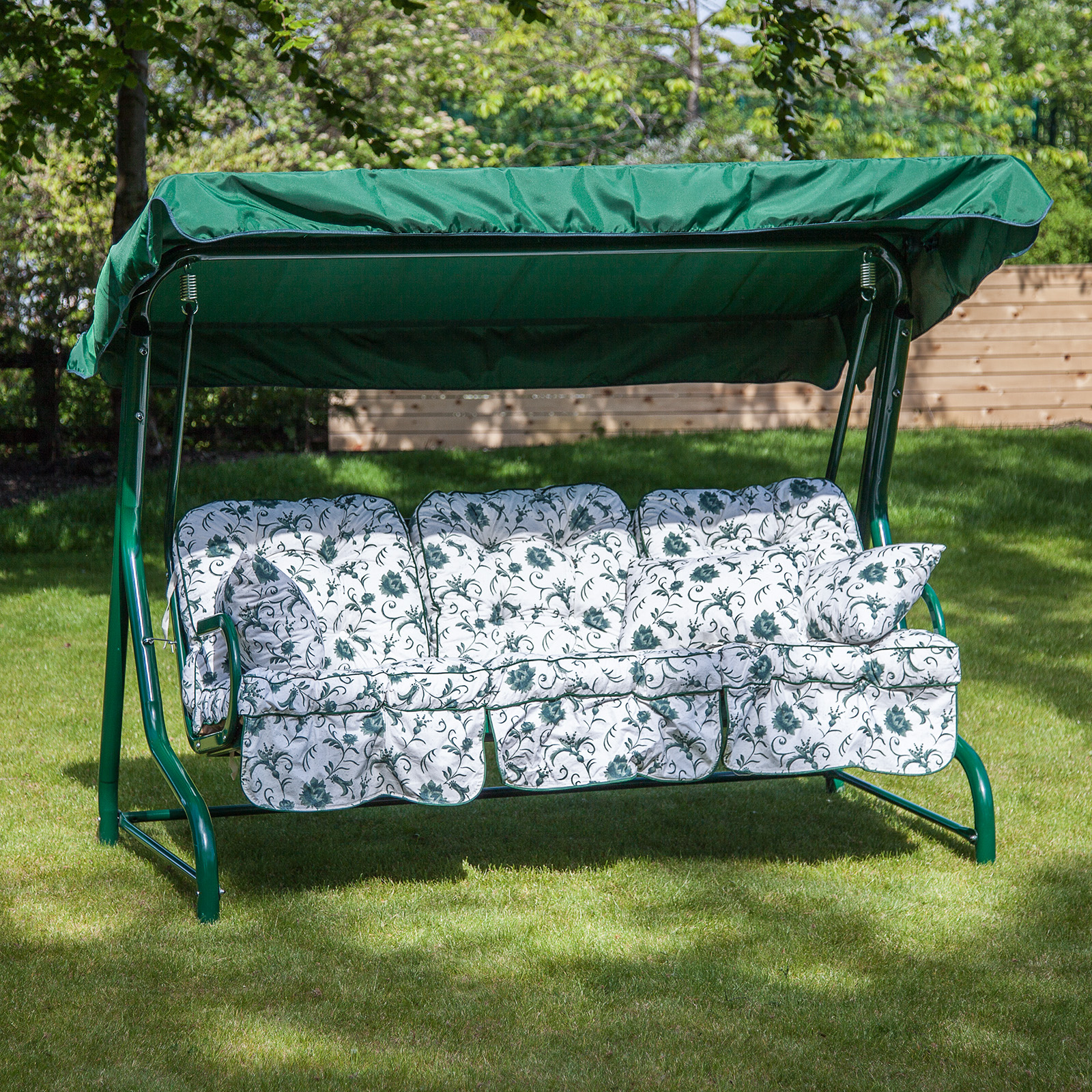 alfresia classic garden swing seat cushions 3 seater. Black Bedroom Furniture Sets. Home Design Ideas