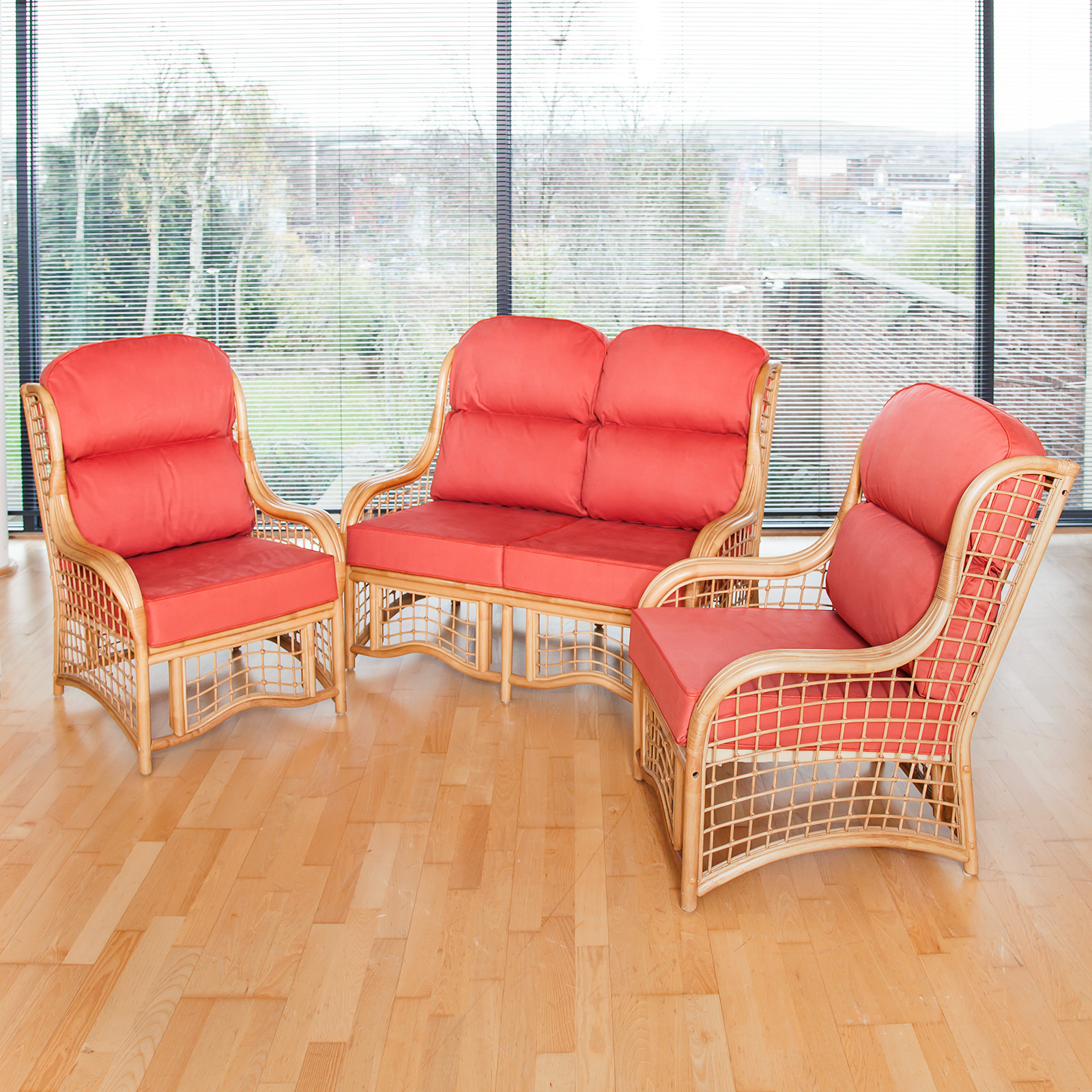 Alfresia Bali Cane Conservatory Furniture Full Suite With