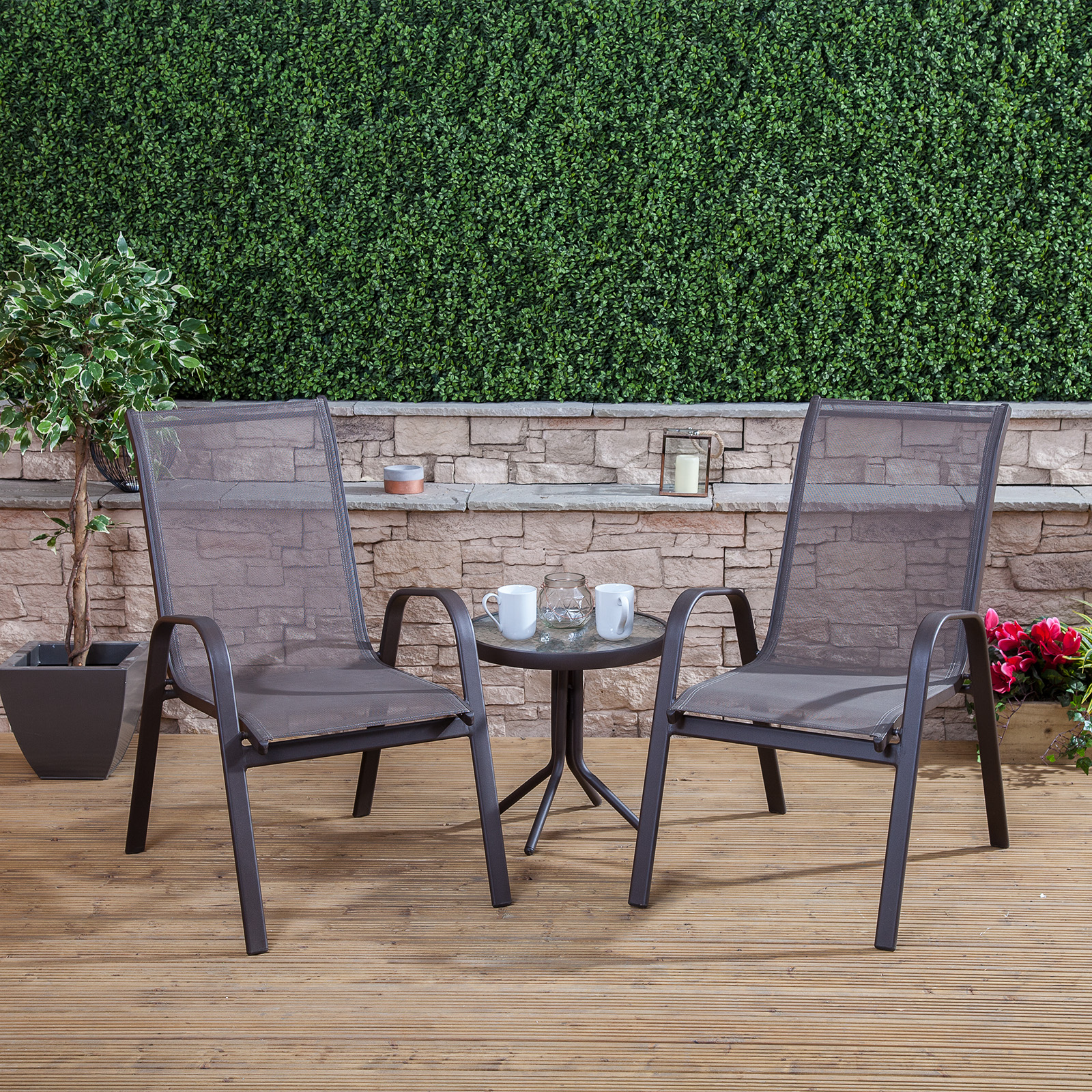 Garden table chairs bistro set outdoor patio furniture for Balcony patio set
