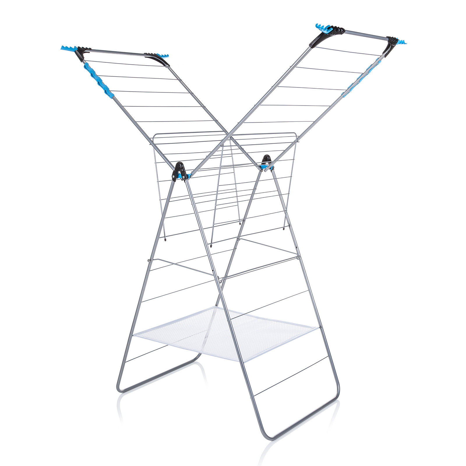 minky xtra wing indoor airer 24m drying space silver. Black Bedroom Furniture Sets. Home Design Ideas