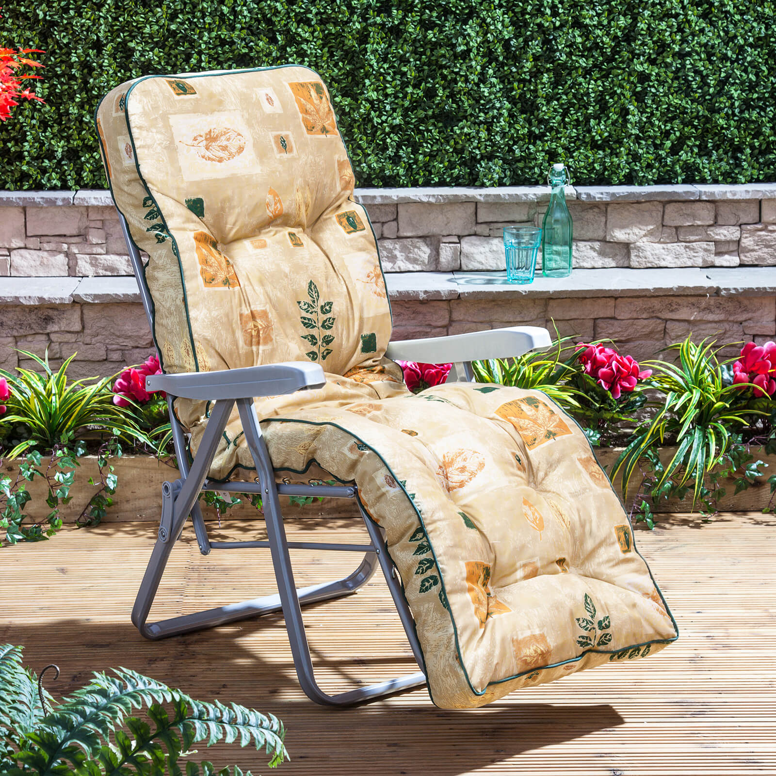 Alfresia Garden Reclining Relaxer Silver Adjustable Chair with